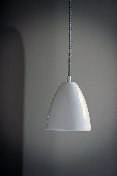 Chalky White Ceramic Ceiling Light with Ceiling Rose - Ceiling Pendant Lights - Lighting