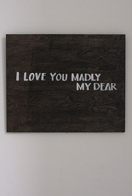 madly: Diy Home Decor, Wood Art, Wood Stained, Diy Art, Stained Paintings, Diy Tutorials, Diy Headboards, Sweet Nothings, Diy Projects