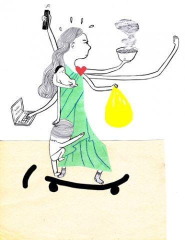 Illustration by Kati Rapia for Piltti-piiri magazine