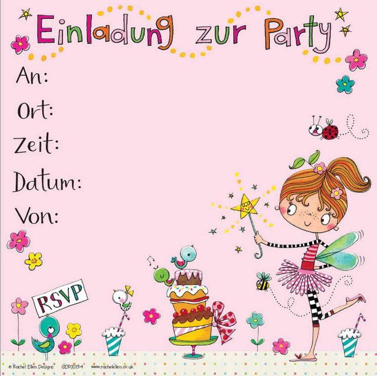 8 einladungskarten kinder geburtstag party feier deko