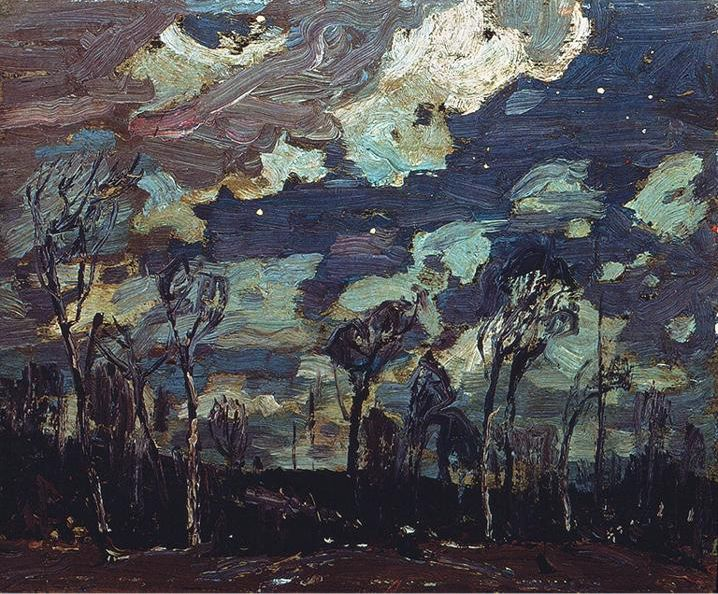 "muhuahuah: ""Tom Thompson, Nocturne, c.1910s. """