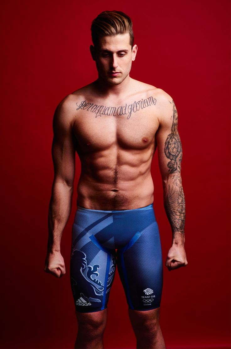 Adidas Team GB kit by Stella McCartney worn by Olympic swimmer Chris Walker-Hebborn