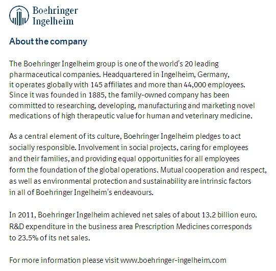 About Boehringer Ingelheim