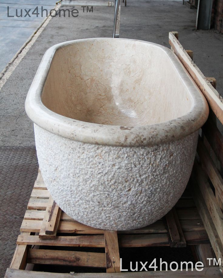 Marble Bathtub Lavare. We produce marble bathtubs in Indonesia. Soaking Marble Bathtub - Natural Marble Tubs made. We manufacture marble bathtubs in Indonesia. Different sizes, available in other colors. We supply hotels, importers, interior designers, distributors, wholesalers. In the picture a free-standing marble Lavare bathtub, made of one piece of stone. Our marble bathtubs are exported to the whole world.  #bathtub #marblebathtub #marblebathtubs #soakingtub #stonebathtub #stonetubs