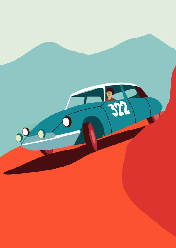Citroën DS by Javier Busto, via Behance