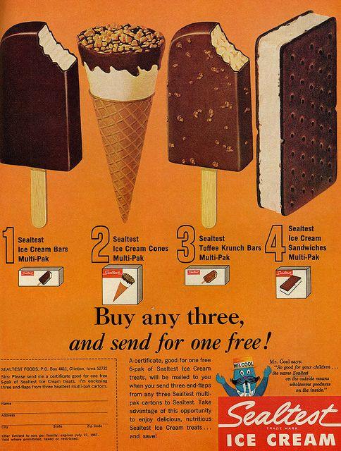 1967 Food Ad, Sealtest Ice Cream