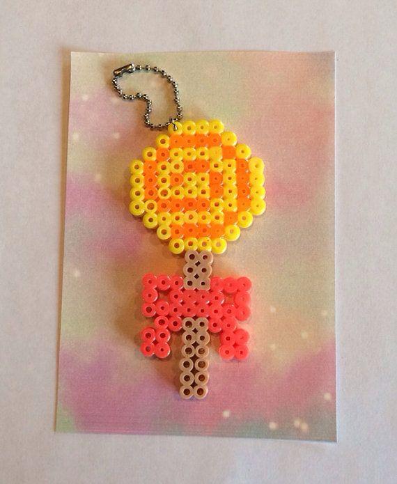 Lollipop Keychain perler beads by UniqueGlitters