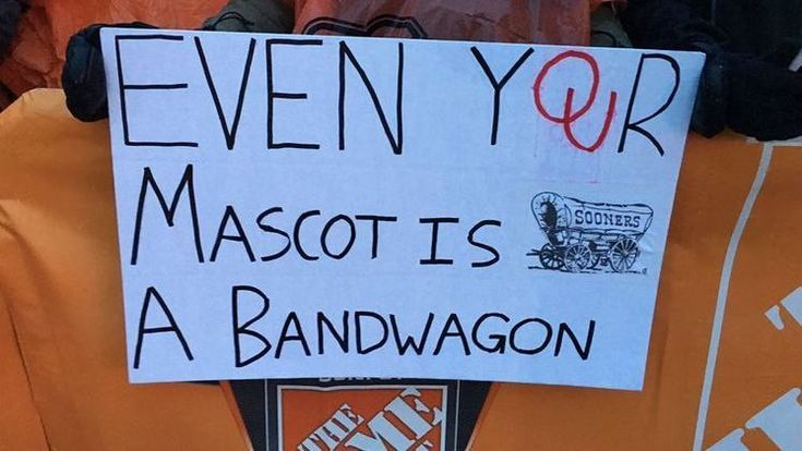 The best signs from Bedlam, where OSU and Oklahoma fight for the Big 12 title.