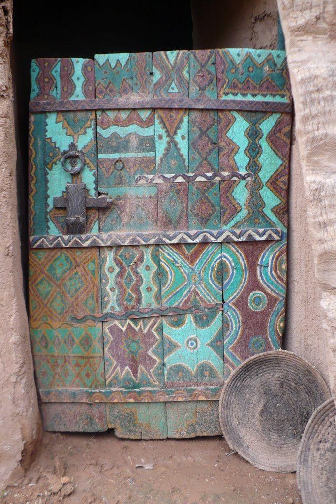 Door of tighmert museum Morocco