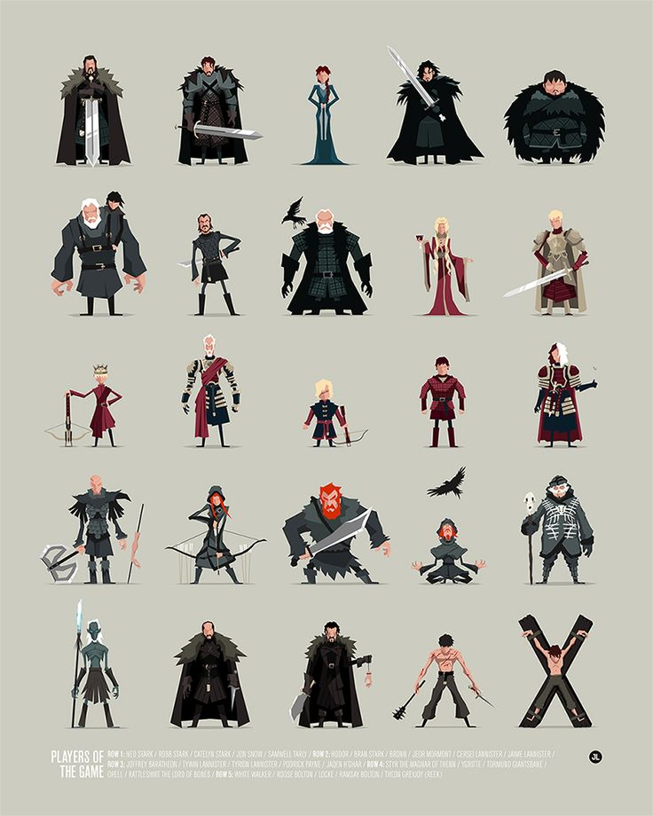 Jerry Liu Studio — GAME OF THRONES - PLAYERS OF THE GAME