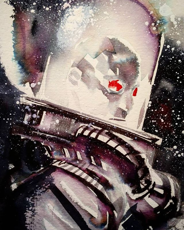 "Mr. Freeze by Dustin Nguyen. ""oldie of one of my favorite characters to draw ever. #mrfreeze #gotham"""