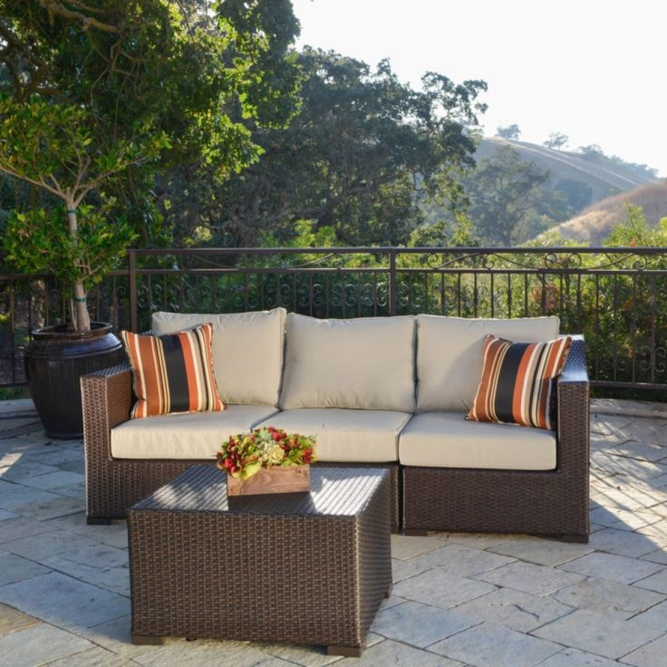 Corvus Matura Sorrel Finished Resin Wicker Outdoor Seating Set   Overstock™  Shopping   Big Discounts On Corvus Sofas, Chairs U0026 Sectionals