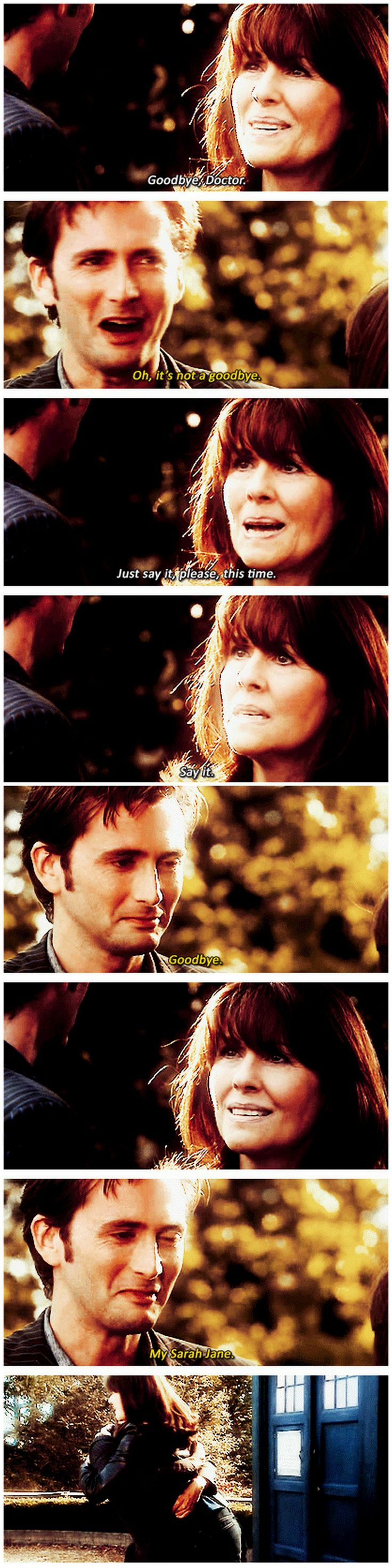 [gifset] Ten and Sarah Jane #DoctorWho