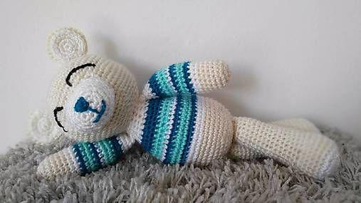 Jamin / Spinkáčik  crochet sleeping teddy