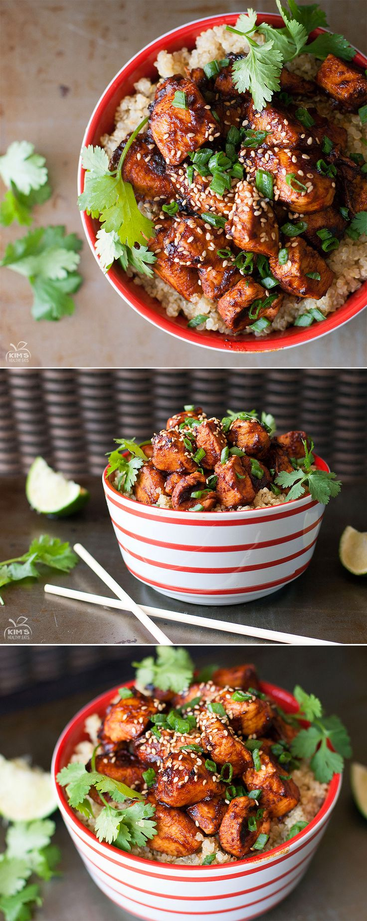 Sriracha Chicken Quinoa Bowl #food