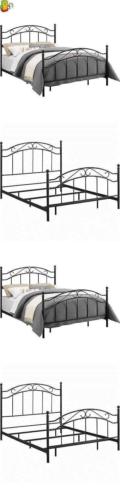 Beds and Bed Frames 175758: Queen Size Metal Bed Frame Headboard Footboard Contemporary Bedroom Furniture -> BUY IT NOW ONLY: $117 on eBay!