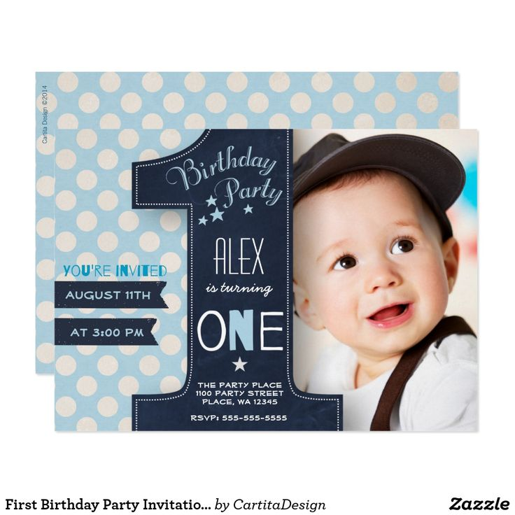 169 best First Birthday Invitations Ideas images on Pinterest ...