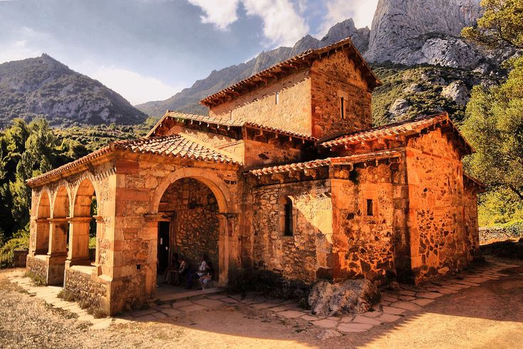 Spain, Cantabria, Santa María de Lebeña Church