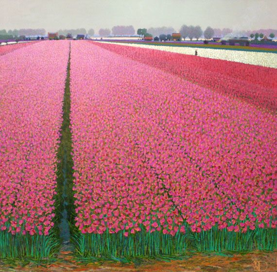 "Ton Dubbeldam  (Holland, b. 1957) ""Holland, harmony in red, white and blue"""