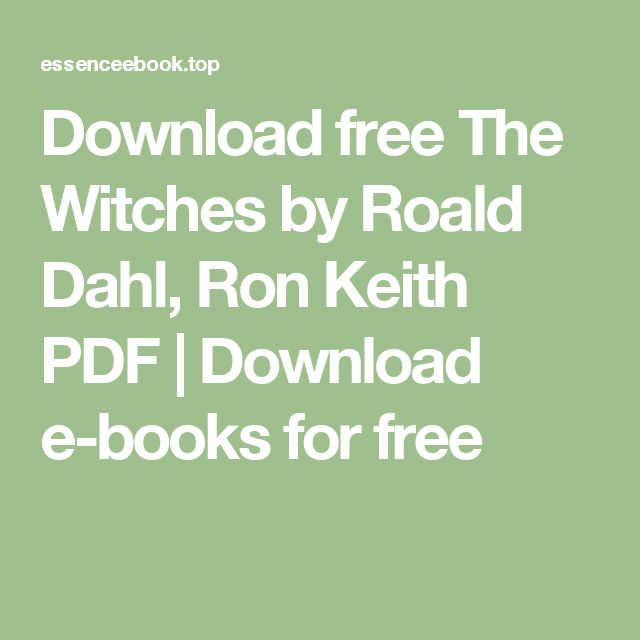 roald dahl the witches ebook free