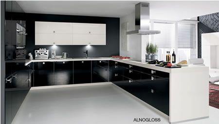 black kitchen white benchtop - Google Search