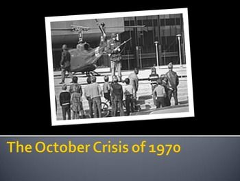 A well designed and clearly organized powerpoint lecture on the October Crisis of 1970.  This is a part of a unit:  Years of Change UnitAlso a part of a complete course:Complete Canadian History Course
