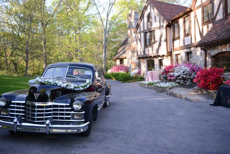 An English Tudor style venue with a classic vintage car getaway? That sounds absolutely dreamy to us! Click the image to learn more about having your wedding at Grandview! Photo credit: Grandview