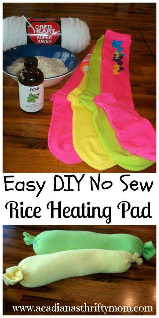 Easy DIY No Sew Rice Heating Pad #DIY