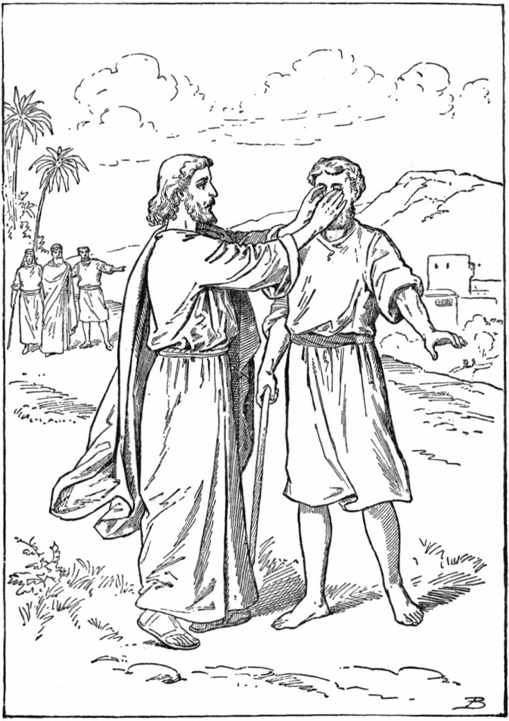 find this pin and more on bible jesus heals blind miracles of jesus coloring pages