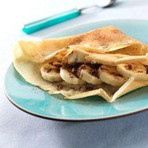 Recette de Crêpe chocolatée à la banane par Francine. Découvrez notre recette de Crêpe chocolatée à la banane, et toutes nos autres recettes de cuisine faciles : pizza, quiche, tarte, crêpes, Crêpes sucrées fourrées, ...