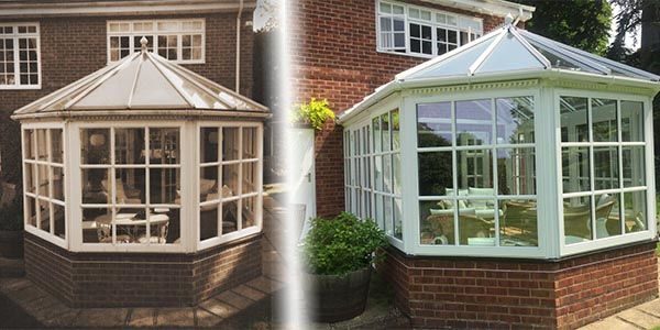 These are Before and After shots of a refurbishment job completed by Room Outside with the addition of our New Generation Glass #Chichester #WestSussex #Hampshire #Surrey #Midhurst #Petworth