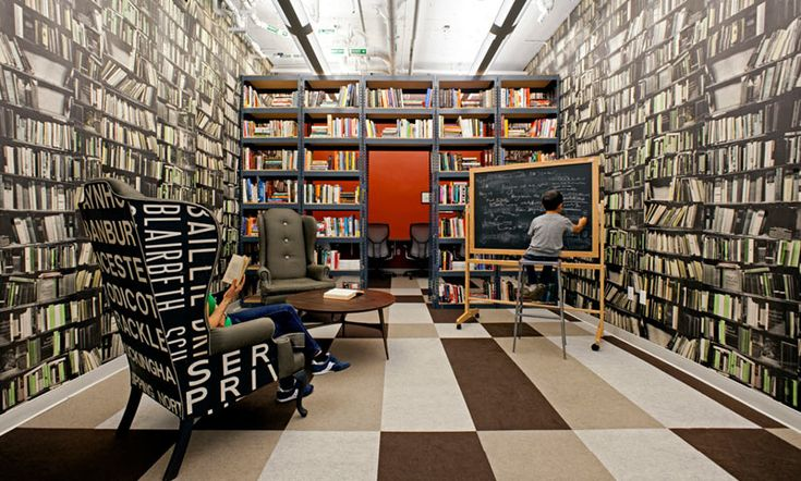 Wall library wallpaper to full
