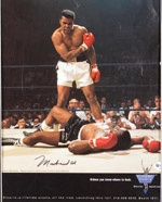 MUHAMMAD ALI SIGNED ADVERTISING PAGE
