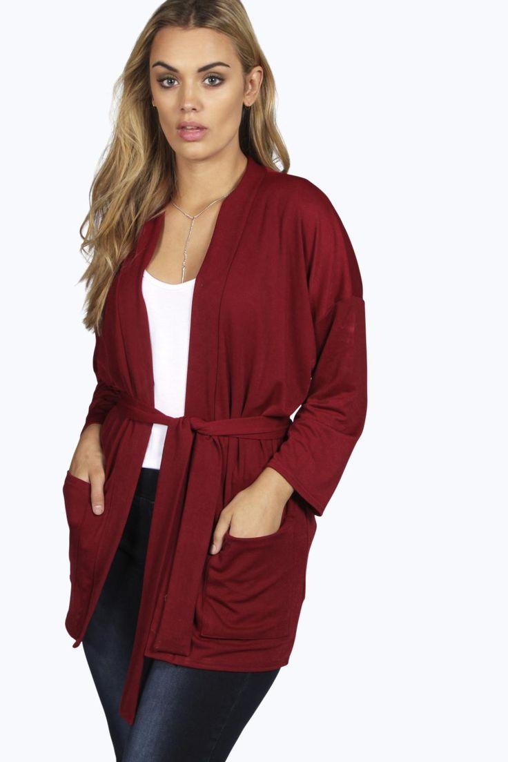 Plus Maisy Belted Kimono Jacket
