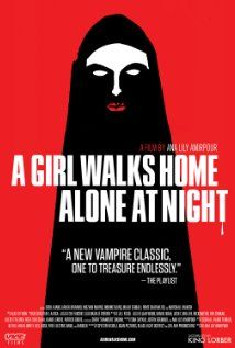 A Girl Walks Home Alone at Night (2014) Directed by Ana Lily Amirpour.  Starring Sheila Vand, Arash Marandi, and Marshall Manesh.
