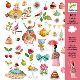 160 stickers prinsessen theekransje | djeco