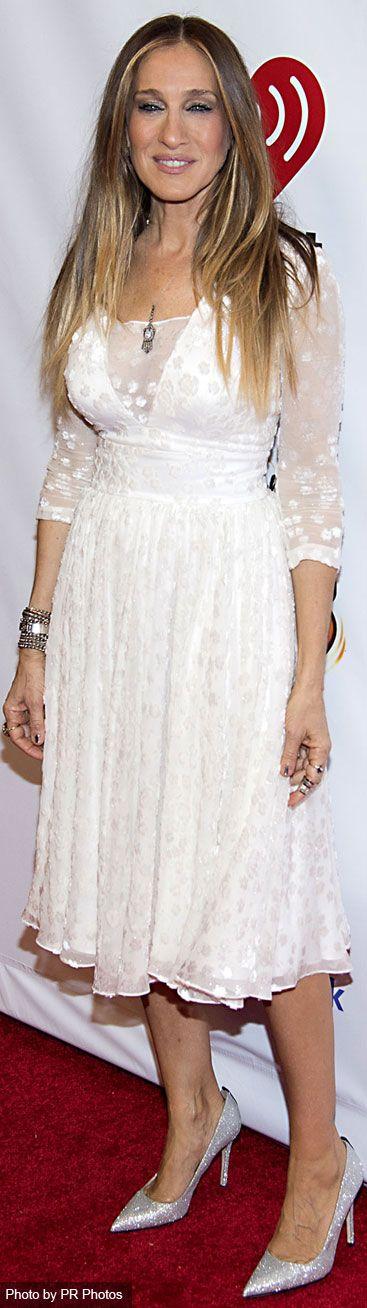 Sarah Jessica Parker Wearing Delphine Manivet Dress – z100's Jingle Ball 2014 in New York