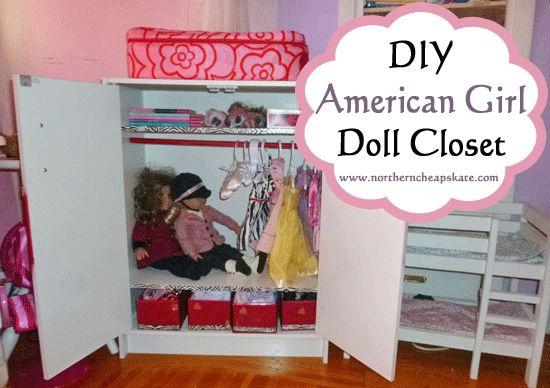 DIY American Girl Doll Closet - http://www.northerncheapskate.com/diy-american-girl-doll-closet/