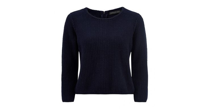 Jac cropped zip back sweater