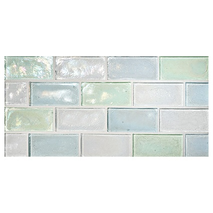 Complete Tile Collection Truegl Concepts Sea Ice Blend Pearl Recycled Gl Mi 038 Color B