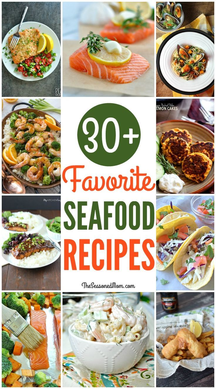 From pasta to casseroles, nachos to soup -- it's all here in a delicious round-up of over 30 of the BEST Seafood Dinner Recipes! Fish Recipes | Seafood Recipes | Easy Dinner Recipes | Dinner Ideas | Healthy Dinner Recipes