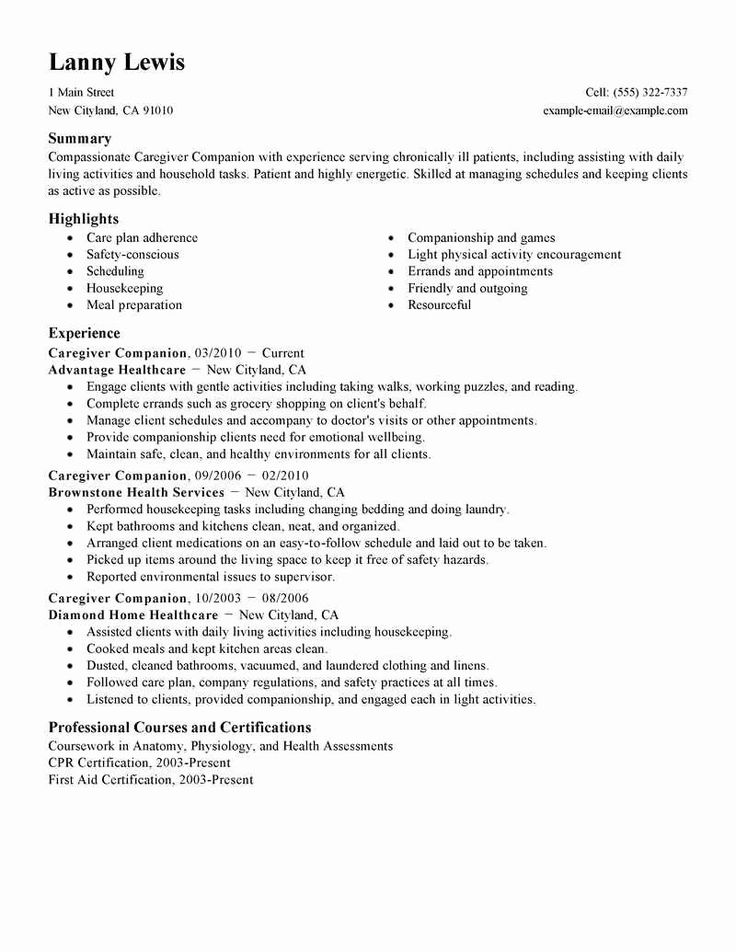 Caregiver job description resume beautiful in home child
