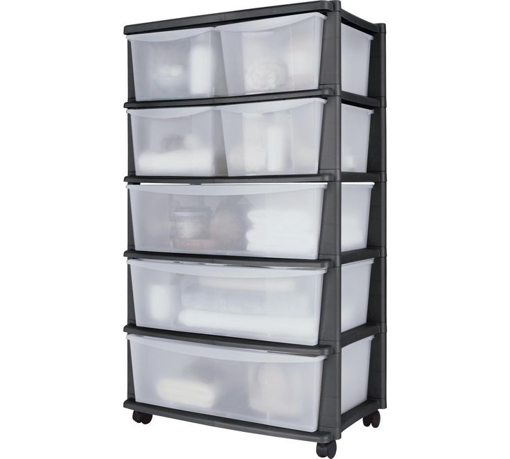 Buy HOME 7 Drawer Black Plastic Wide Tower Storage Unit at Argos.co.uk, visit Argos.co.uk to shop online for Plastic storage boxes and units, Storage, Home and garden