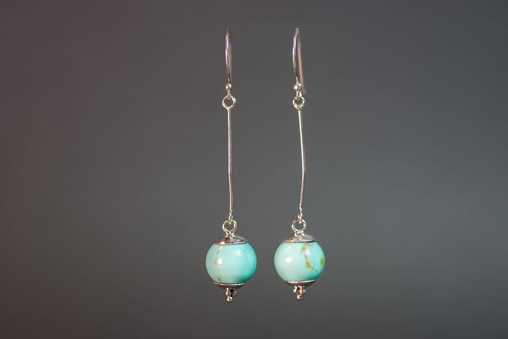 Earrings with pressed turquoise €15