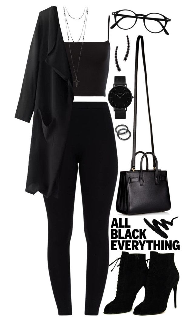 """Untitled #1361"" by asoul4 ❤ liked on Polyvore featuring Tom Ford, Yves Saint Laurent, CLUSE, Alinka and allblackoutfit"