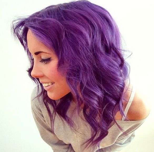 Purple curly hair(: Colorfully Gorgeous Pinterest Curly hair ...
