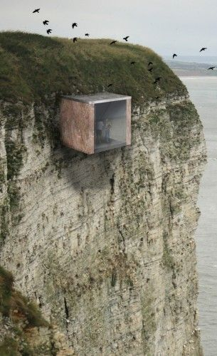 ♂ Women at War Museum / Charlotte Wilson architecture build on the edge of a mountain rock