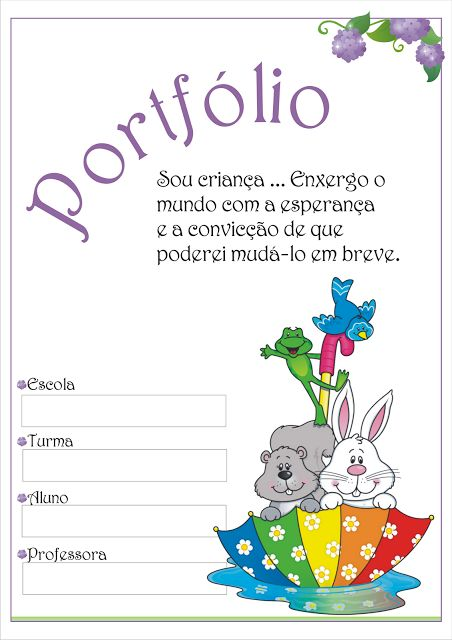 Modelo de Portfólio Educação Infantil como Instrumento de Avaliação.