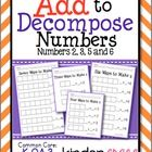"""This is a set of 4 worksheet designed to help students develop the skill of decomposing numbers 2, 3, 5, and 6 using 1"""" construction paper squares ..."""
