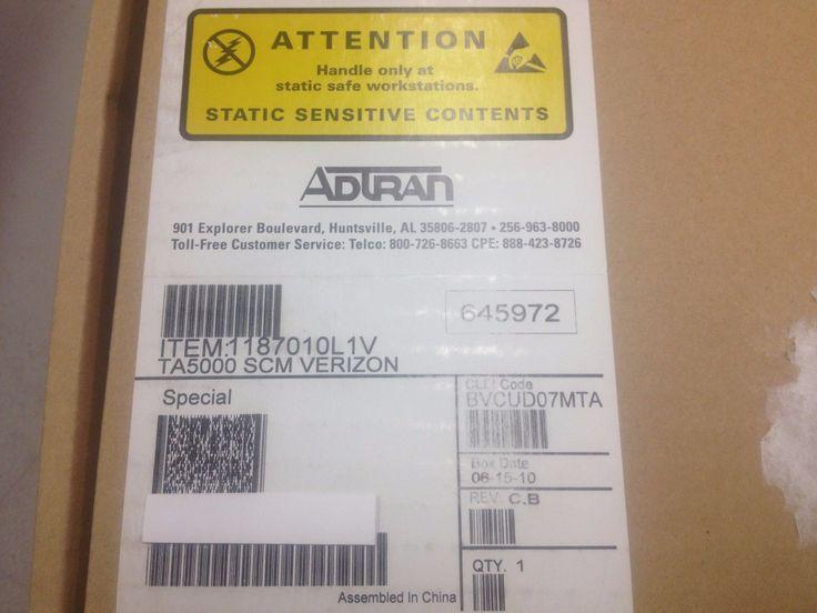 Adtran TA5000 1187010L1V SCM Verizon BVCUD07MTA (We Buy Adtran!!!)